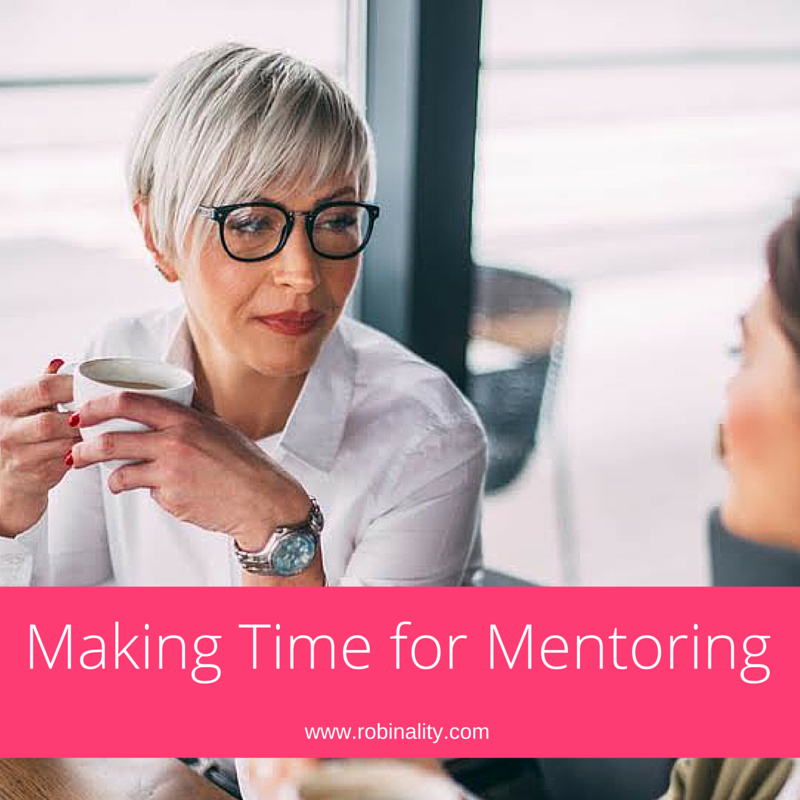 Making Time for Mentoring